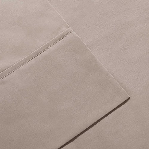 (Premier Comfort 600 Thread Count Pima Solid Cotton Sheet Set Size: California King, Color: Stone,)
