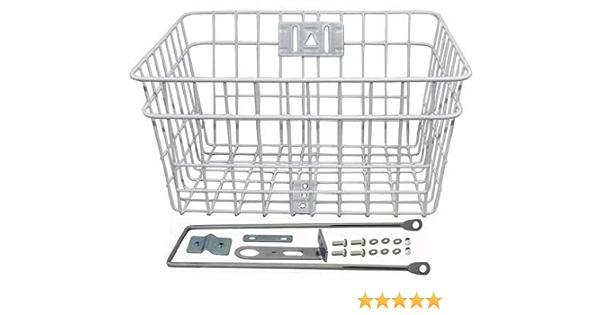 ORIGINAL Bicycle Bike Steel Wire Basket W//Braces 303D Black 107944