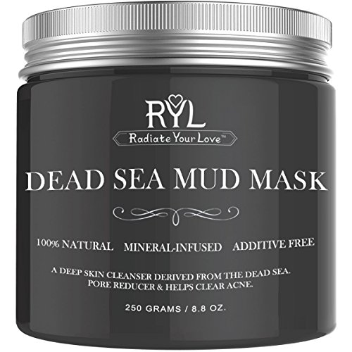 Radiate Your Love Dead Sea Mud Mask for Face, Natural Blackh