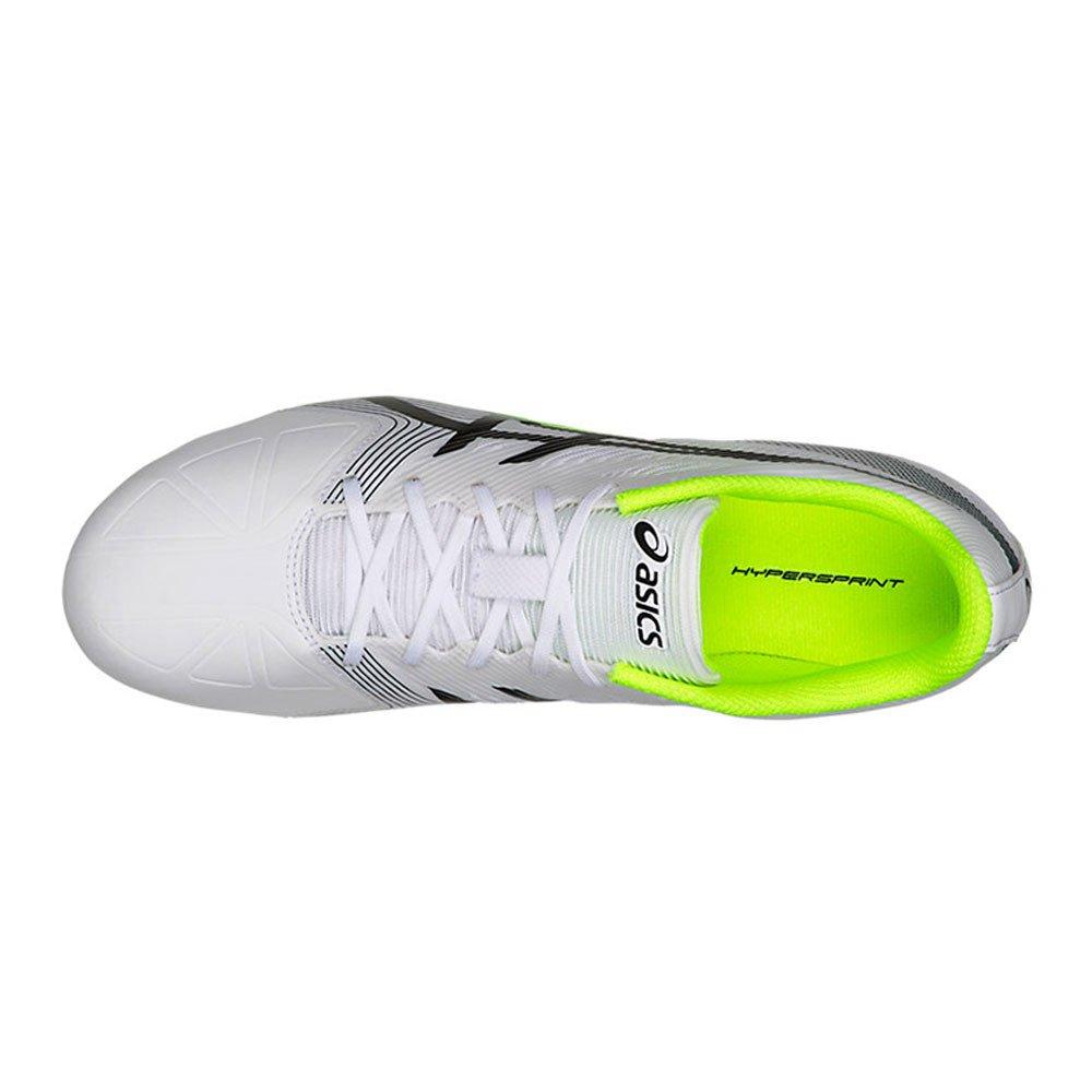 ASICS Unisex-Erwachsene Hypersprint 6 Leichtathletikschuhe Leichtathletikschuhe Leichtathletikschuhe Diva Blau Weiß   Safety Gelb d56ba0