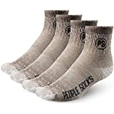 PEOPLE SOCKS Men's Women's Merino wool quarter socks 4 pairs 71% premium with Arch support Made in USA