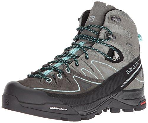 Salomon Women's X Alp Mid LTR GTX W High Rise Hiking Boots Grey (Shadow/Castor Gray/Aruba Blue 000) aRaHjCSVZQ