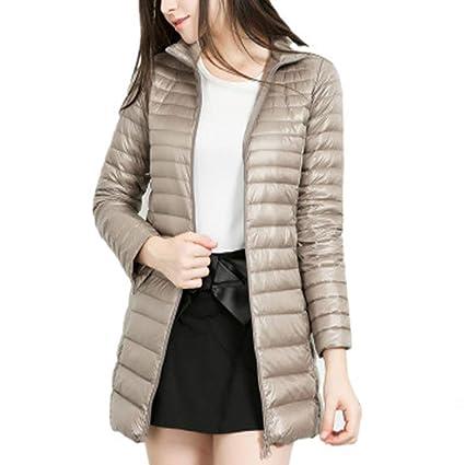 Caidi Abrigo acolchado de invierno para mujer, impermeable, cálido y ligero, estilo deportivo