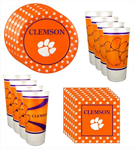 Clemson Tigers Party Pack for 8 by Westrick