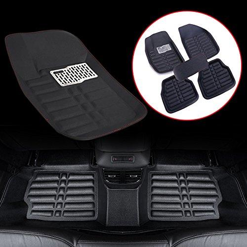 Sedeta 5pcs Universal Car Auto Floor Mats FloorLiner Front Rear Carpet cleaner All Weather Mat by Sedeta (Image #2)