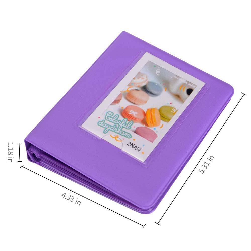 64 Photos,Blue 7s 25 26 50s 70 90 Instant Camera /& Name Card Tiessic Mini Photo Album for Fujifilm Instax Mini 9 8 8