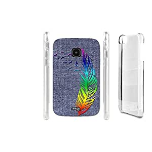 FUNDA CARCASA EFECTO JEANS FEATHER RAINBOW PARA LG L20 D100F