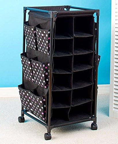 (Fashionable Rolling Shoe Storage Organizer Polka Dots New)