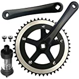 CyclingDeal Alloy Fixie Single Speed Crankset With BB 48 Teeth 170mm