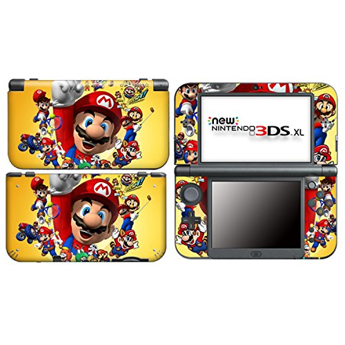 MARIO for New Nintendo 3DS XL Skin Vinyl Decal Stickers (Pokemon X And Y Vs Sun And Moon)