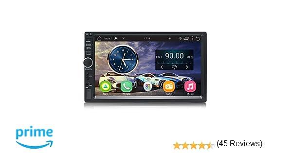 Panlelo S1 Android 2 DIN Universal 7 Pulgadas Car Stereo Touchscreen Navegación GPS Am/FM Radio 1024×600 Quad Core + 16G Car Audio Player WiFi ...