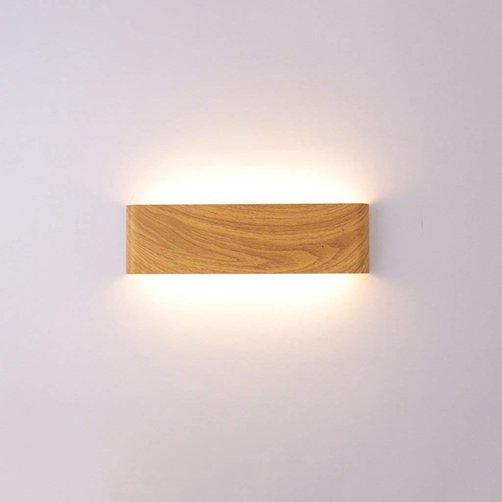 JINQD Home Modernes minimalistisches Wandlicht beleuchten, Schlafzimmer-Bett-geführte Wohnzimmer-Flur-Treppen-hölzerne Farbeinfaches modernes rechteckiges , Hauptwand-Beleuchtung (Farbe   A)
