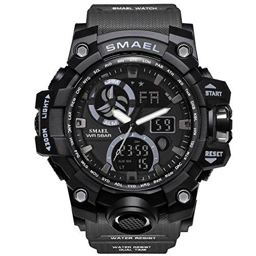Fishing Moon Phase Watch - Rmrebecca New watch outdoor sports electronic watch Waterproof pointer plus digital dual display luminous multi-function men's watch