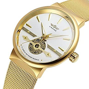 Relojes Hermosos, WINNER Hombre Reloj de Moda Reloj de Vestir Reloj de Pulsera Cuerda Automática