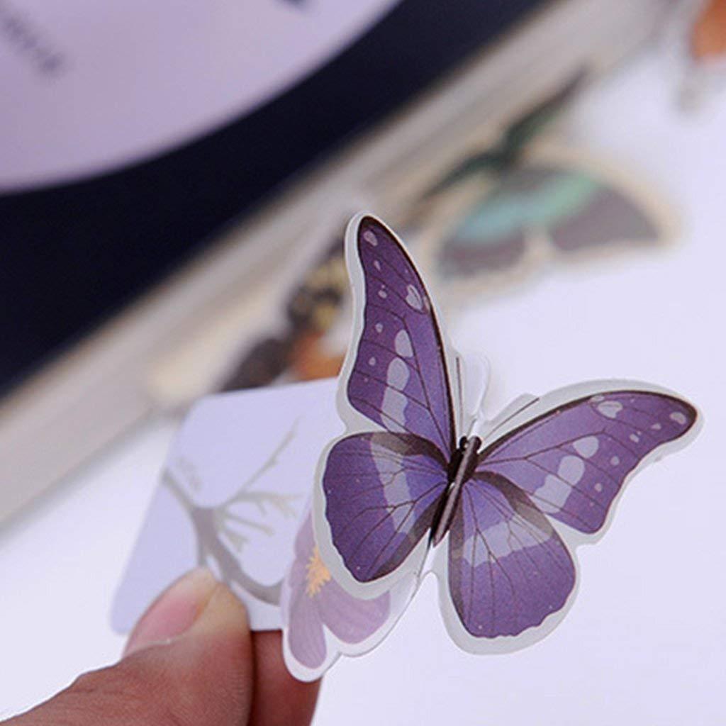 Ogquaton Schmetterling Form lesezeichen niedlich Mini 3D Buch Mark schreibwaren lesen zubeh/ör Papier lesezeichen Buch label10 st/ück kreativ und n/ützlich