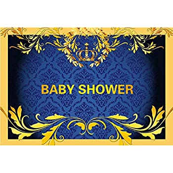 Amazon.com : AOFOTO 9x6ft King's Blue Crown Baby Shower