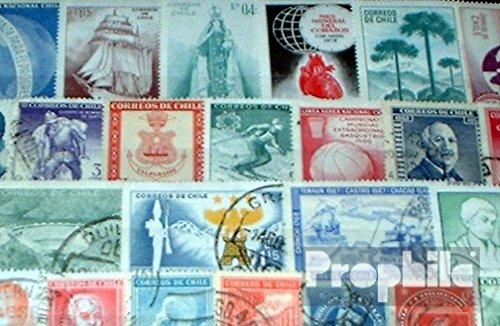 sellos para los coleccionistas Prophila Collection Chile 50 diferentes sellos