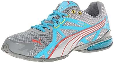 PUMA Women's Voltaic 5 Running Shoe Black Fluo Magenta Silver 10 B