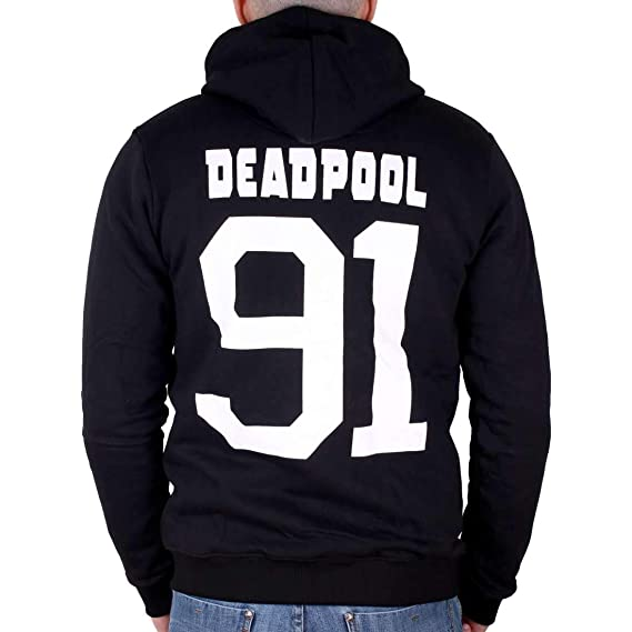 Deadpool Marvel Sweat Zippé Metal Logo 50Z6Zx