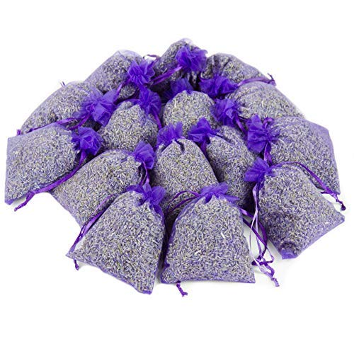 (D'vine Dev 15 Lavender Sachets Bag for Closets and Drawers, Lavender Scented Sachets - Naturally Dried Lavender Flower Buds - by Lavande Sur Terre)