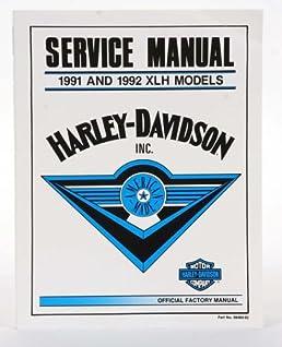 harley davidson service manual 1991 and 1992 xlh models harley rh amazon com 2001 Harley-Davidson 1997 Harley-Davidson