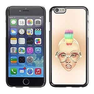 Stuss Case / Funda Carcasa protectora - Rainbow Mohawk Sexy Girl - Apple Iphone 6 Plus 5.5