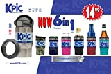 KPIC 14 oz. Can (6-in-1) (Pink M.) Tumbler & Can Cooler (Use as 14 oz. Tumbler & Fits 12 oz. Cans, Slim Cans, 16 oz. Cans, Alum Bottles, 12 oz. Glass Bottles)