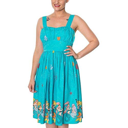 Aqua Dress Sophia Aqua Banned Dancing Days Kleid by 5265 TWSFSORq8
