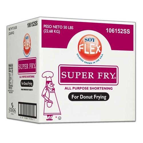 Super Fry Soy Flex Donut Fry Shortening, 50 Pound - 1 each.