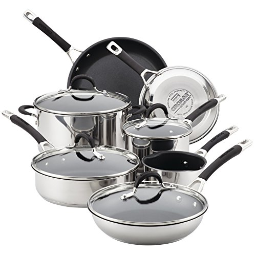 Circulon Momentum Stainless Steel Nonstick 11-Piece Pots and Pans Cookware Set ()