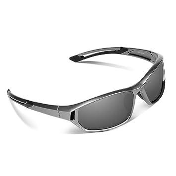 EWIN E31 Gafas de Sol de Deporte Polarizadas, UV400 Protección, Gafas Irrompibles (Plateado y Gris): Amazon.es: Deportes y aire libre