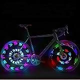 GOWEII 2 Pack Spoke Light Colorful Bright LED Bicycle Spoke Lights Bike Wheels Decoration