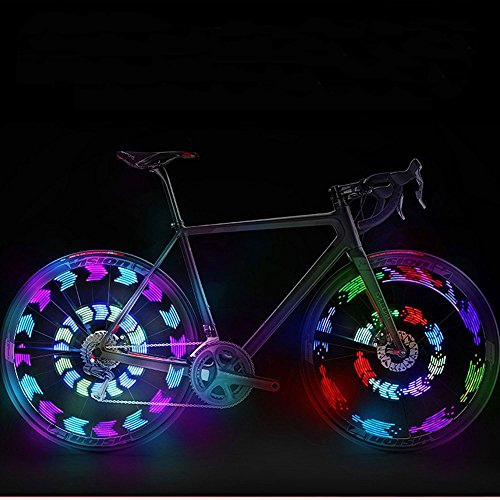 GOWEII 2 Pack Colorful Bright LED Bicycle Spoke Lights Bike Wheels Decoration (Type#1(Two Pieces))
