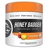 Cheap Honey Badger Pre Workout Powder – Natural Performance Energizer Preworkout Supplement for Men & Women – Beta Alanine (30 Servings, Peach Mango)