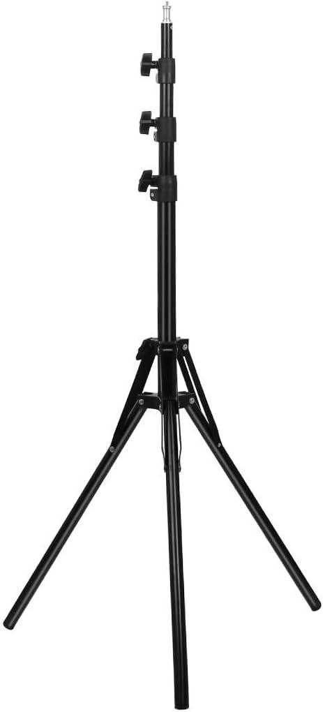 Color : Black Black HUIFANGBU Reverse Foldable 4 Sections 2m Height Tripod Mount Holder for Vlogging Video Light Live Broadcast Kits