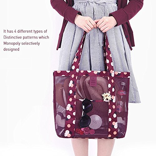 red Large 12cm Clothing Lf Capacity Shoulder Outdoor Multifunction Single Shopping Travel Red 35 Cosmetic Toys water Bag Beach Storage wzCTqFw