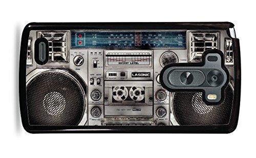 Retro 80s Boombox Black Hardshell Phone Case for LG G3