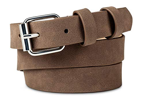 A New Day Women's Faux Suede Belt (Taupe, X-Large) (Merona Brown Belt)