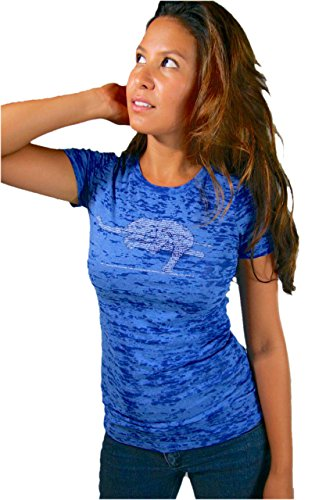 Think Positive Apparel Womens Elephant Yoga Burnout Crew Neck T-Shirt |XL (Think Positive T Shirt compare prices)