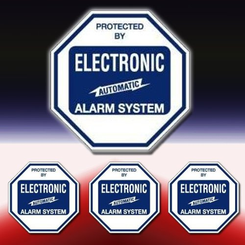 VAS #102SDK BURGLAR ALARM SECURITY SYSTEM WARNING SIGN & DECAL KIT