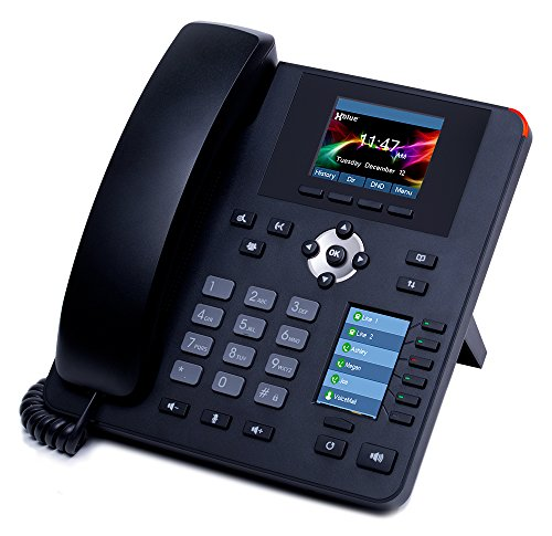 XBLUE IP7g Enterprise-Grade Gigabit IP Phone with Separate Main & User Programmable Color Displays