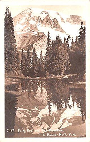 Fairy Pool and The Mountain Rainier National Park, Washington postcard