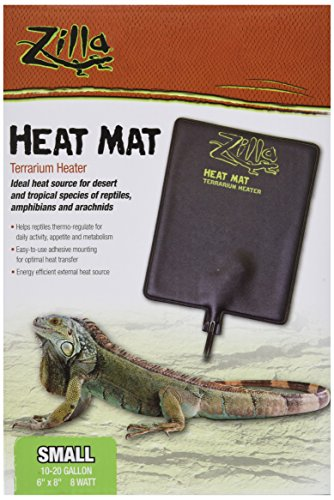 Zilla Reptile Terrarium Heat Mats, Small, 8 Watt Lizard Supplies