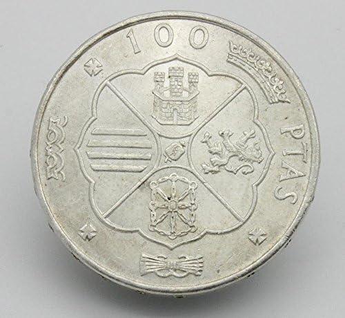 Desconocido 100 Pesetas en Plata del Año 1966. Moneda ...