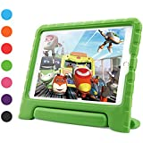 iPad 9.7 inch 2018/2017 Air 2 Case for Kids, Dwopar Shockproof Light Weight EVA Protective Case for Boys and Girls with Handle Stand for New Apple iPad/Air 1/2 Tablets - Green
