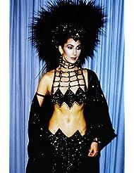 Cher Amazing Black Costume Head Dress Bare Midriff 1980's 24x36 Poster