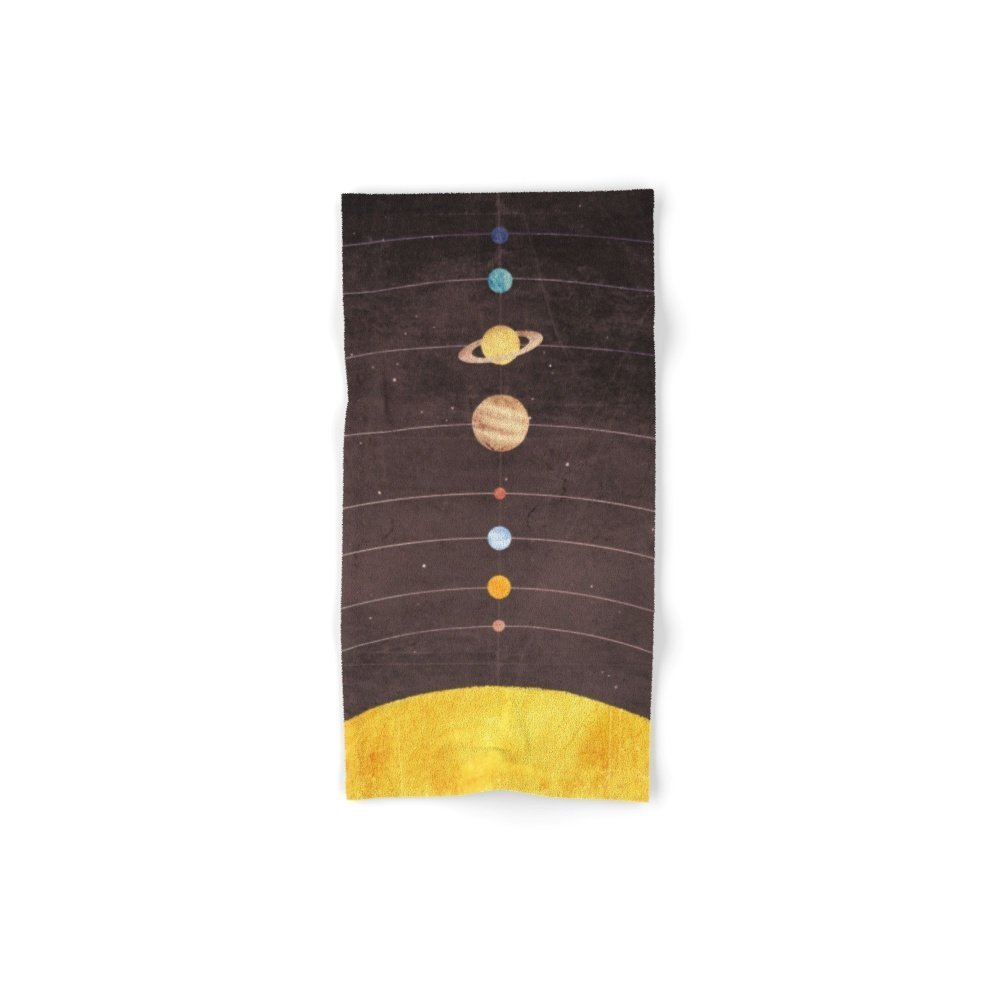 Society6 Solar System Set of 4 (2 hand towels, 2 bath towels)