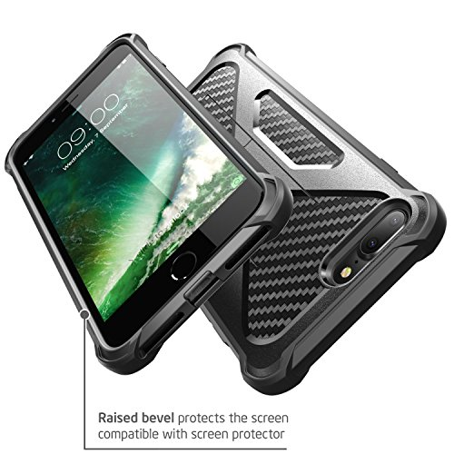 iPhone 8 Plus Case, i-Blason Transformer [Kickstand] Apple iPhone 8 Plus 2017 [Heavy Duty] [Dual Layer] Combo Holster Cover case with [Locking Belt Swivel Clip] (Compatible with iPhone 7 Plus)(Black) by i-Blason (Image #5)