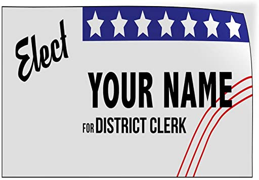 Custom Door Decals Vinyl Stickers Multiple Sizes Elect Name for Position E Political Elect Signs Outdoor Luggage /& Bumper Stickers for Cars Red 30X20Inches Set of 5