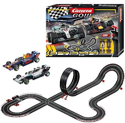 Carrera GO!!! Max Speed – Circuit de course électrique avec voitures miniatures Formule 1 – Jouet pour enfants à partir de 6 ans